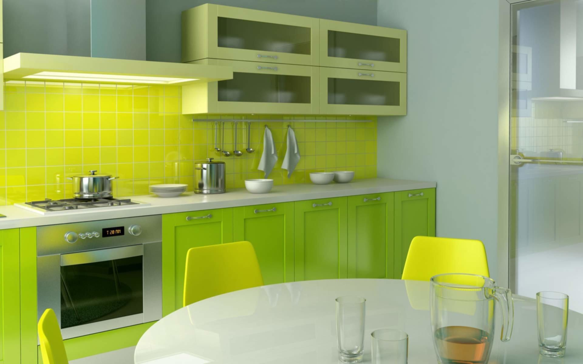 Green Grey White Kitchen Paint Colors