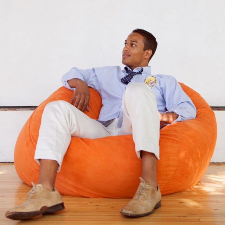 Orange Vinyl Bean Bag Chairs