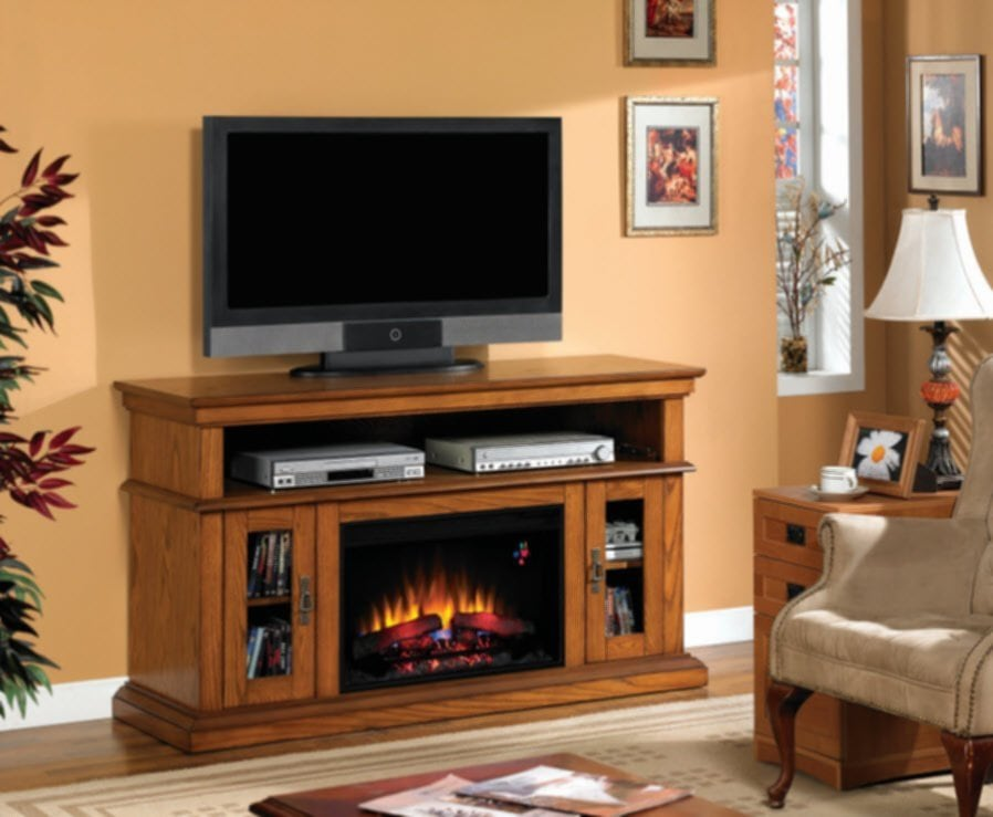 Rustic Electric Fireplace Portable Fireplace Fireplace TV Stand