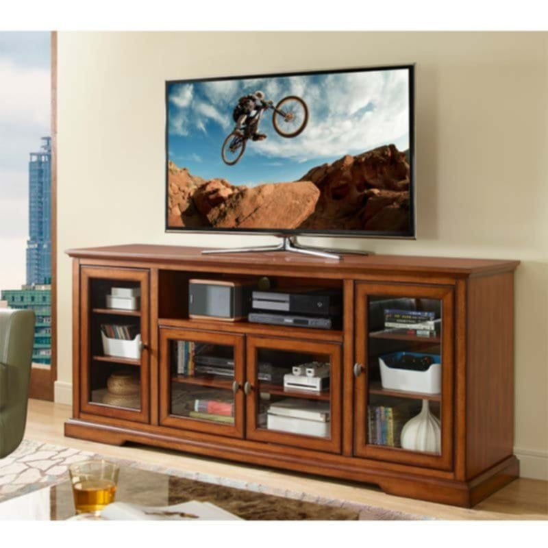 Walker Edison 70 Highboy Tv Cabinet Rustic Brown W70c32rb Fireplace TV Stand