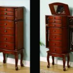 Wood Standing Jewelry Armoire