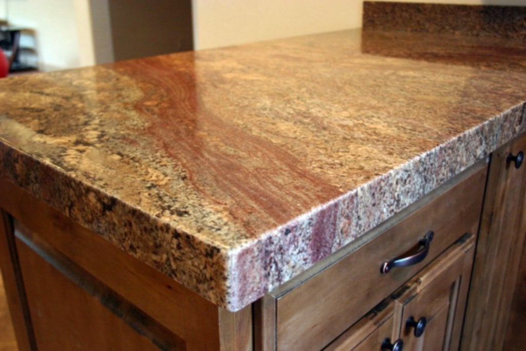 Crema Bordeaux Granite Installed Design Photo Review Popular Granite Countertop Colors
