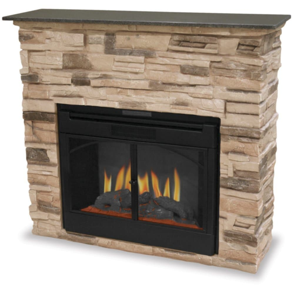 Indoor Electric Fireplace Stacked Stone Surround Best Ideas Electric Fireplace Insert
