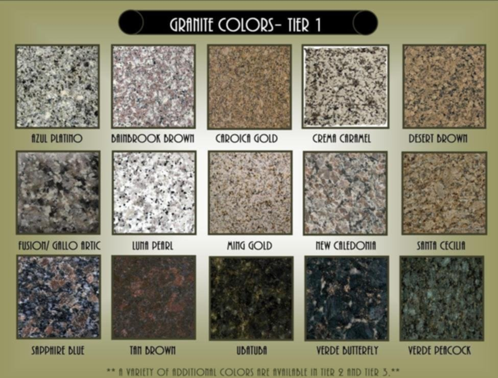 Kitchen Granite Countertop Color Home Interior Popular Granite Countertop Colors