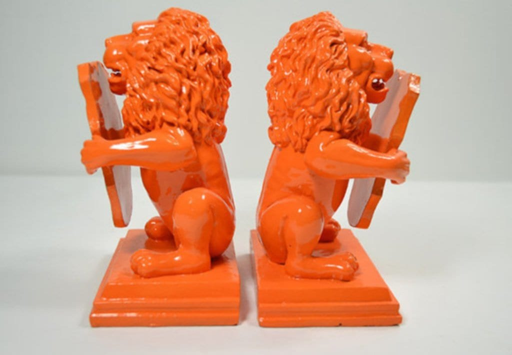 Lion Bookends Bookstore