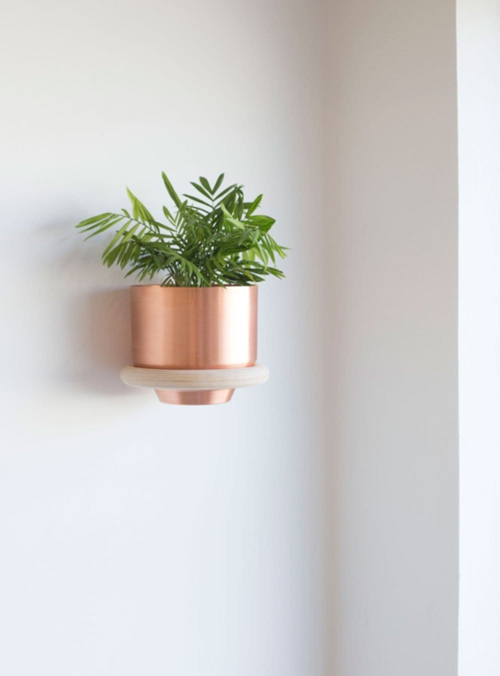 Metallic Planter Yield Design House Sarah Le Donne Blog Perfect Wall Mounted Pot Rack