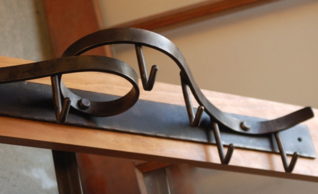 Wall Mounted Pot Rack Coat Rack Contemporary Forged Steel Perfect Wall Mounted Pot Rack
