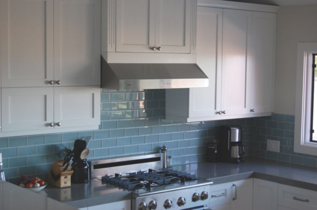 Backsplash Dark Cabinet Sky Blue Glass Subway Ideas For Backsplash Ideas With Dark Cabinets