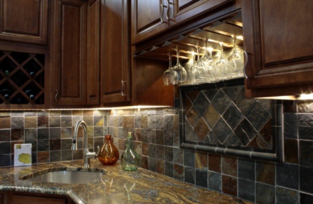 Backsplash Ideas For Dark Brown Cabinets