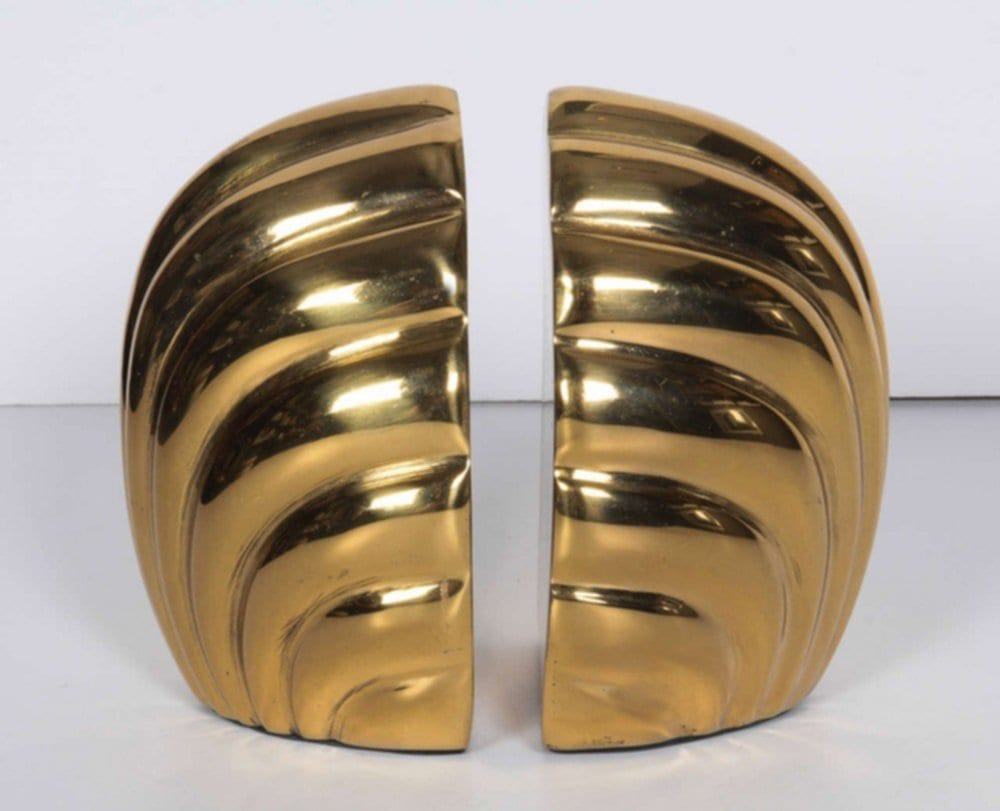 Beauty Brass Bookends