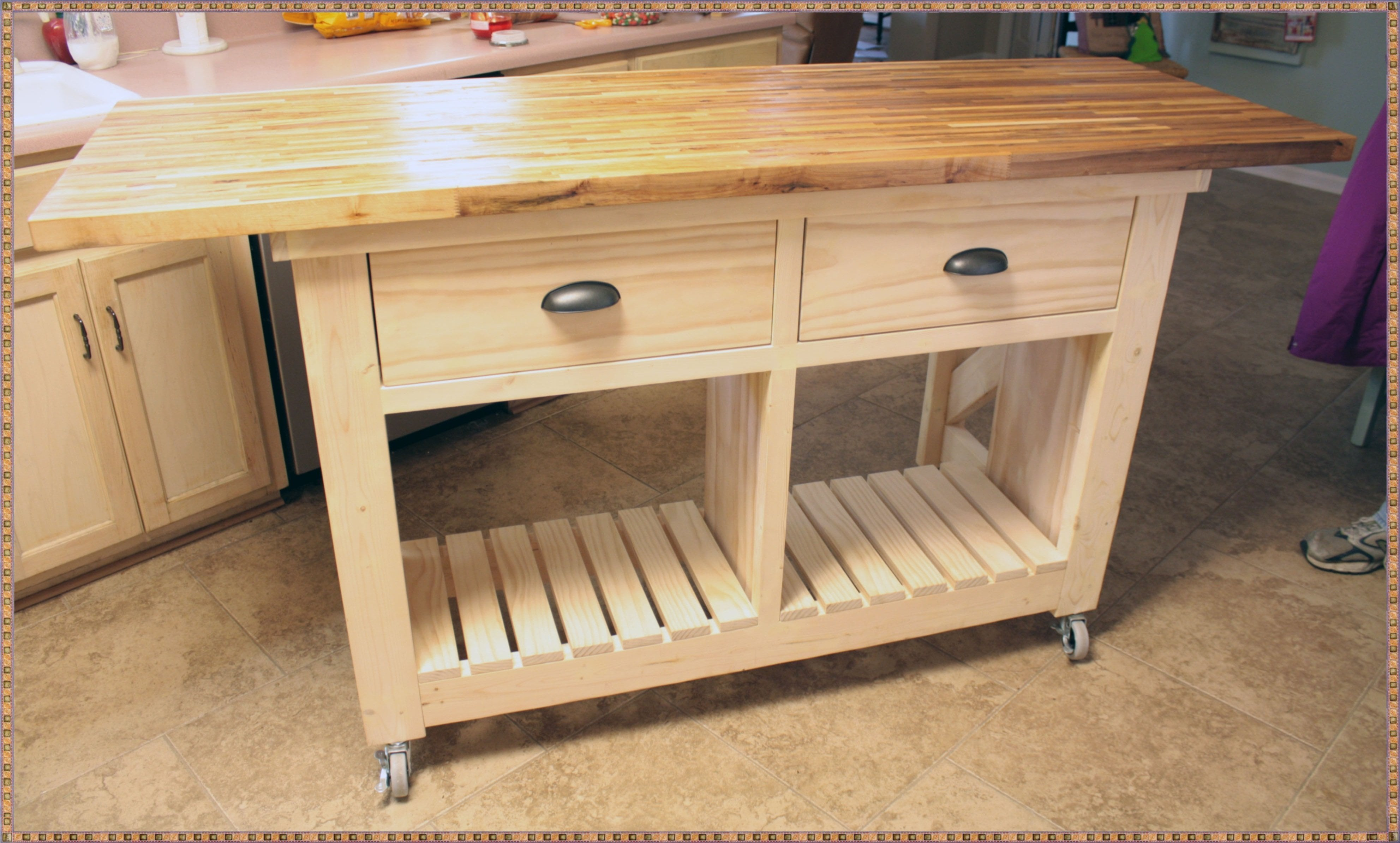 Butcher Block Top Kitchen Island