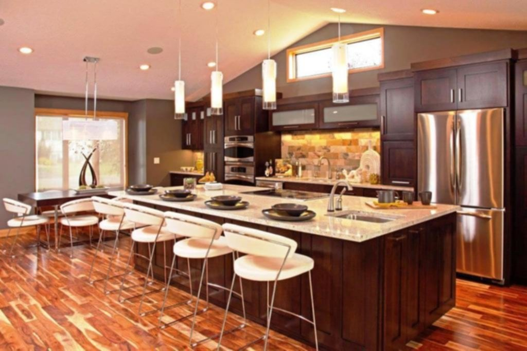 Countertop And Backsplash Ideas With Dark Cabinets