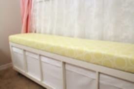 Custom Bench Cushions Yellow