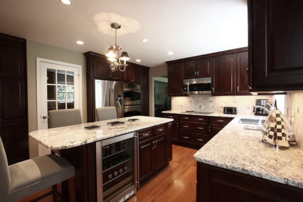 Dark Cabinet Light Granite Fanti Blog Ideas For Backsplash Ideas With Dark Cabinets