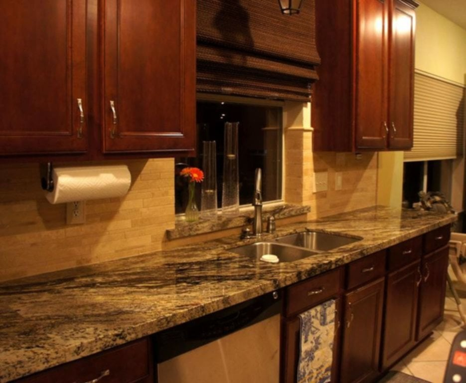 Kitchen Backsplash Ideas Dark Cherry Cabinets