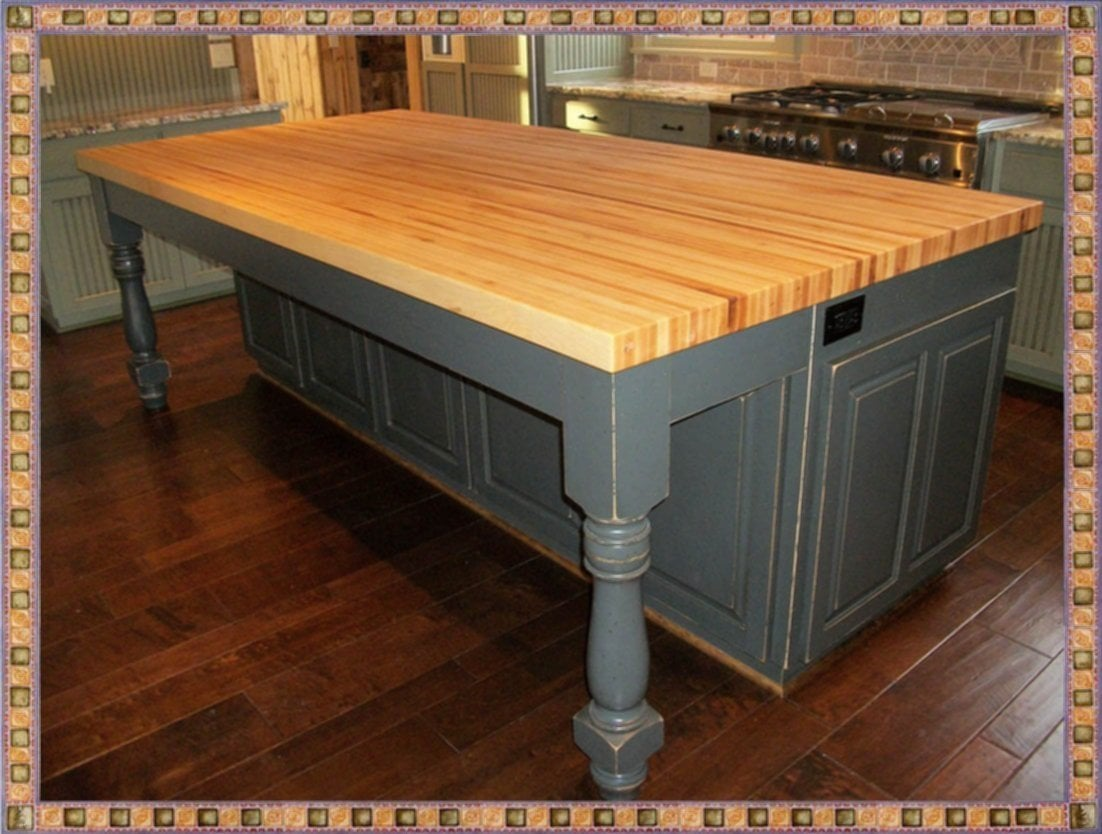 Kitchen Butcher Block Island