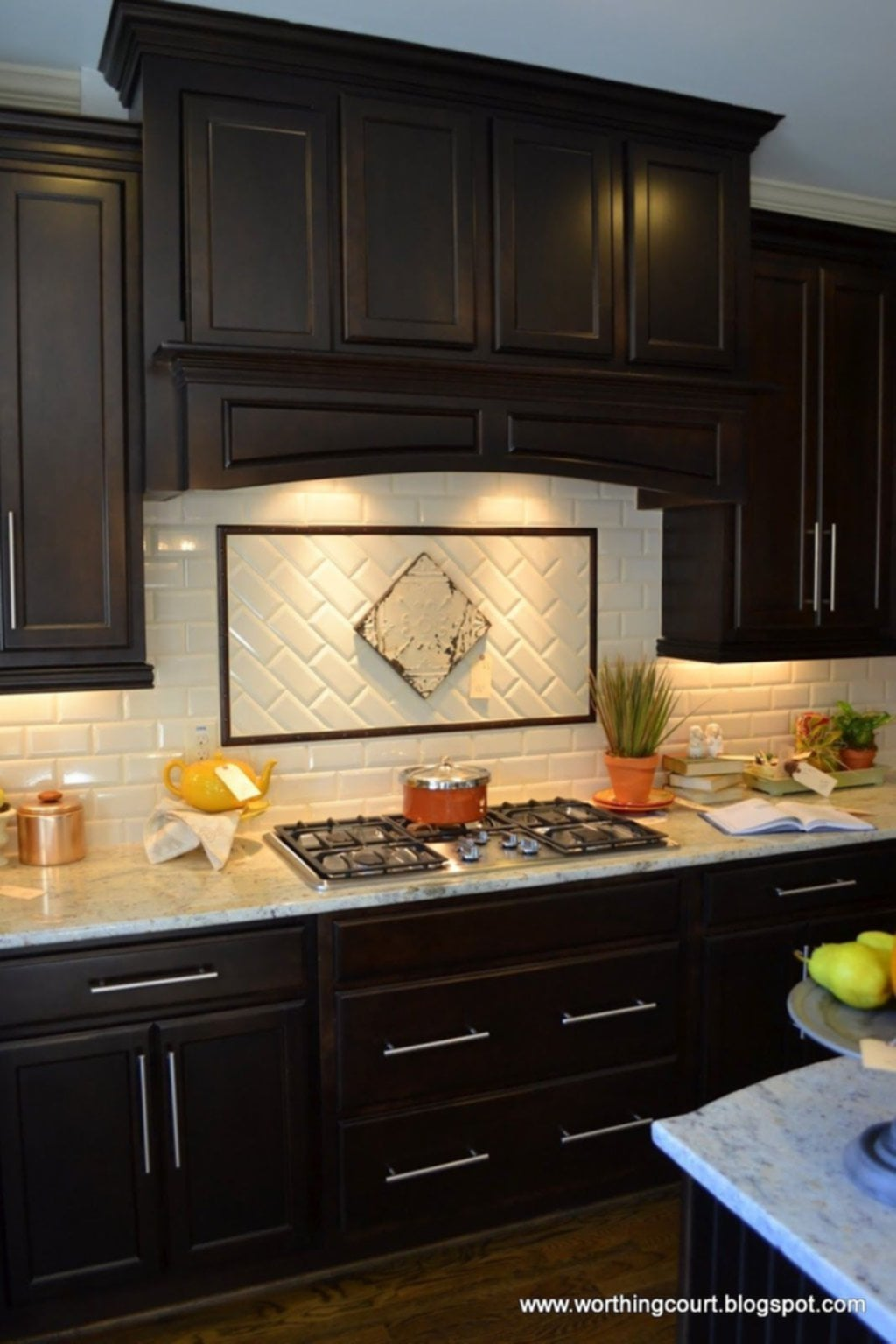 Kitchen Contemporary Kitchen Backsplash Idea Dark Ideas For Backsplash Ideas With Dark Cabinets