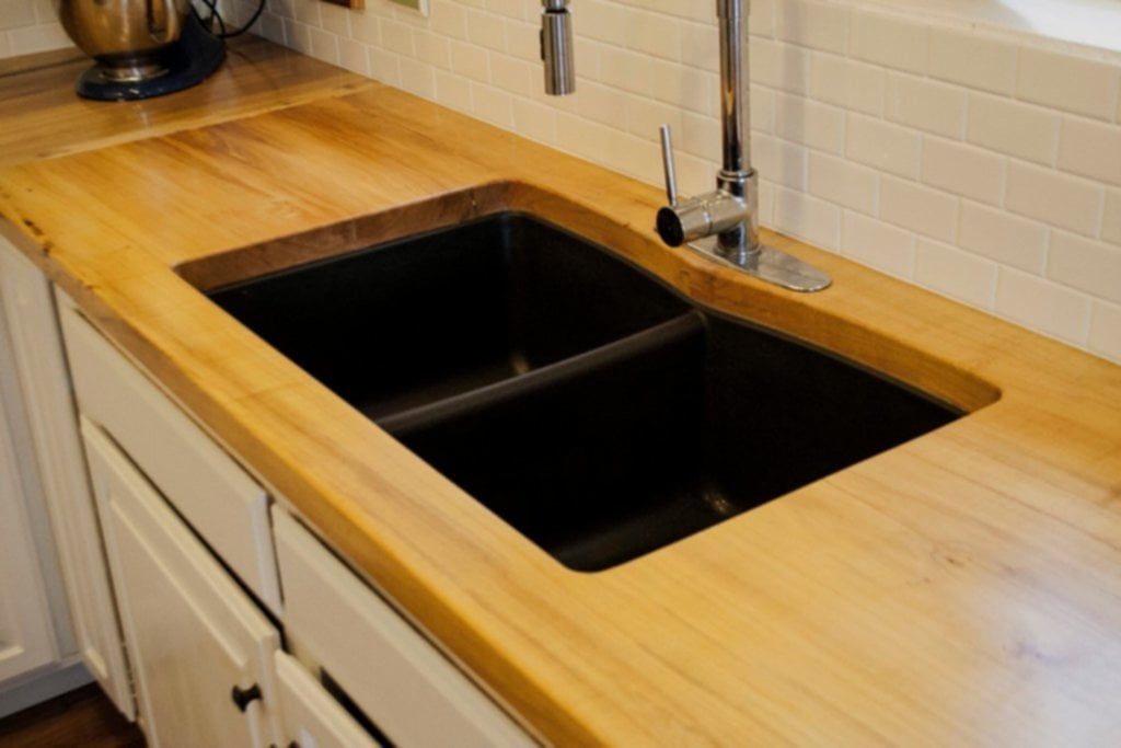 Kitchen Decoration Design Idea Double Basin Black Advantages Of Kitchen Bamboo Countertops