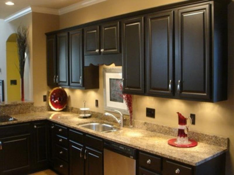 Kitchen Paint Color Dark Cabinet Home Furniture Ideas For Backsplash Ideas With Dark Cabinets