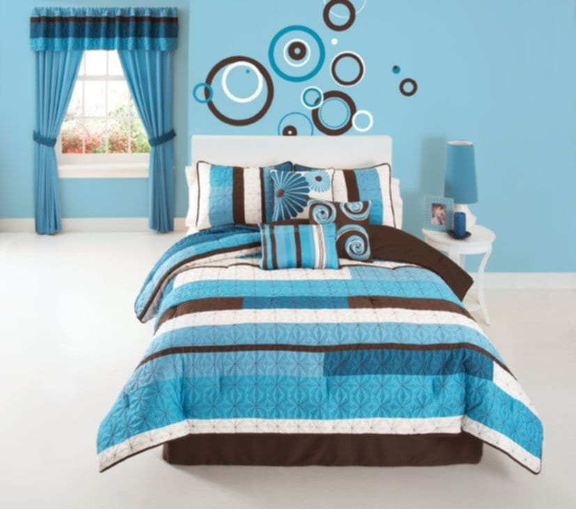Modern Aqua Blue Bedroom Ideas