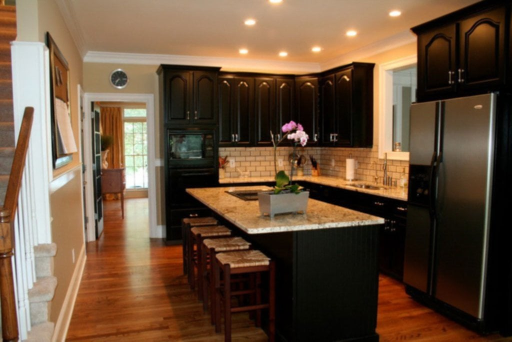 Simple Tip Painting Kitchen Cabinet Black Ideas For Backsplash Ideas With Dark Cabinets