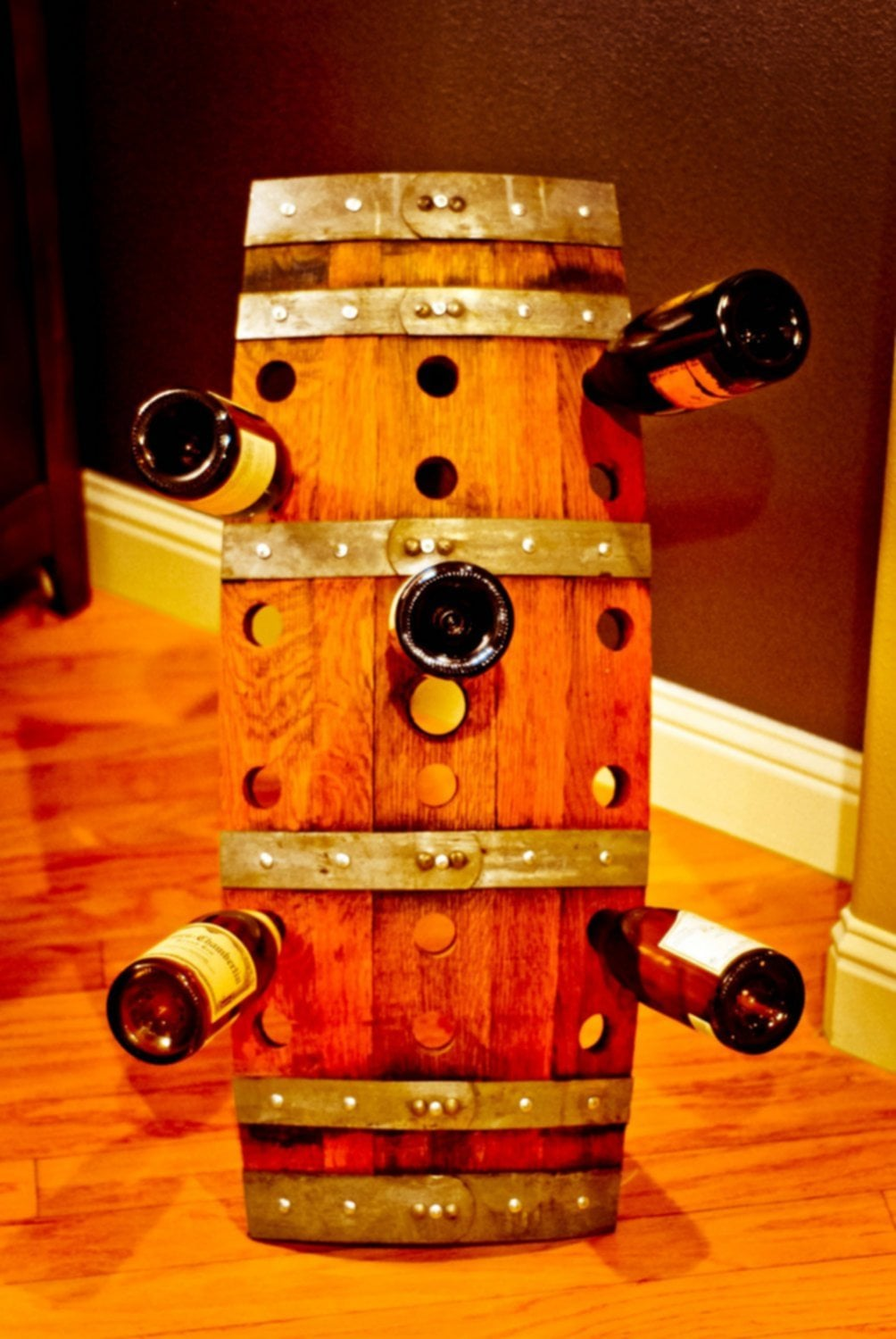 Wine Barrel Wine Rack Wood