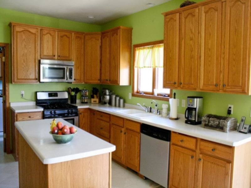 Best Green Kitchen Walls