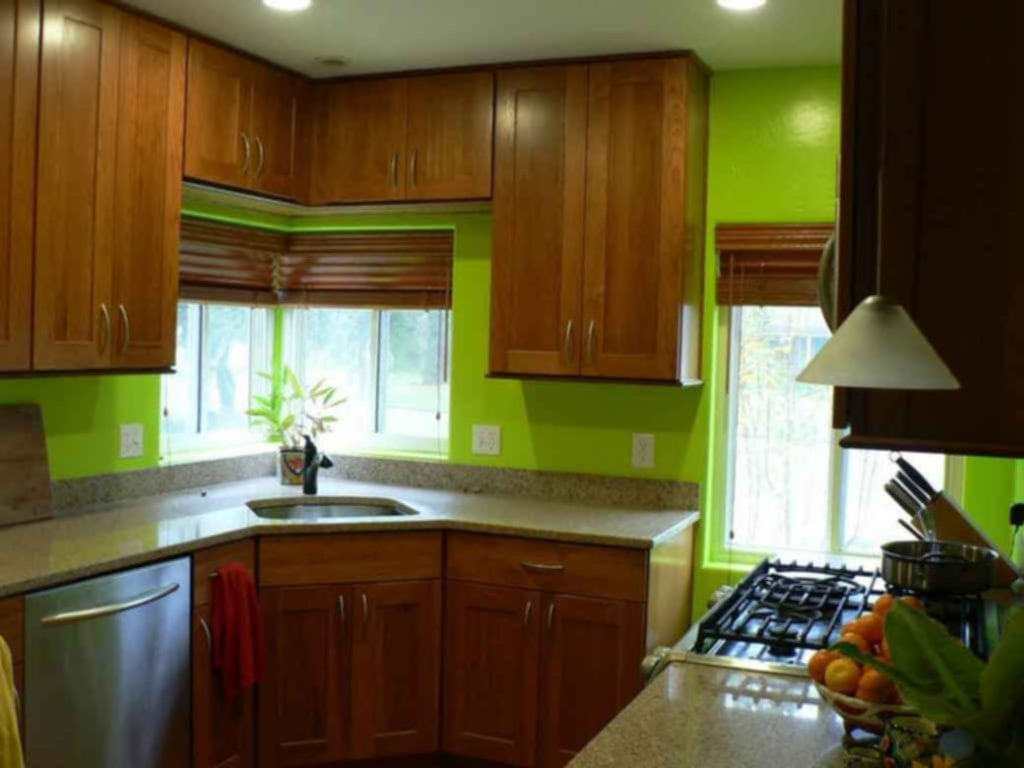 Bright Green Kitchen Walls