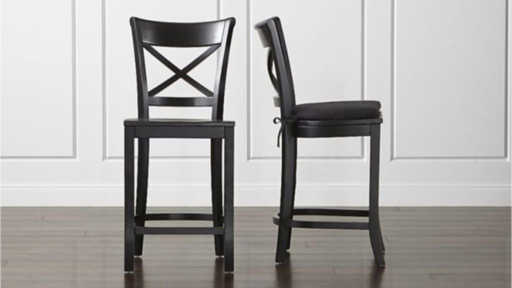 Black Metal Counter Stools With Back